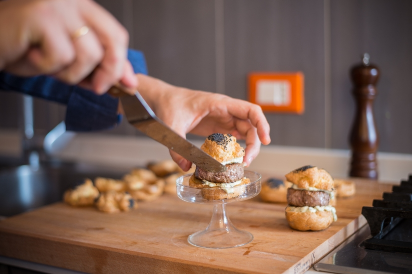 Chouxburgers + Franciacorta = benvenutoperfetto